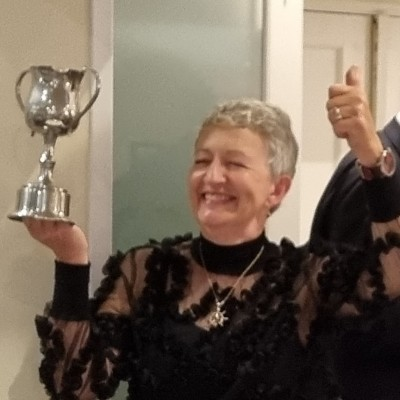Lady Libby Cup went to Janet Rivers, Plumbers